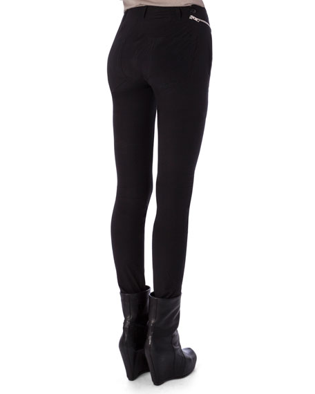 Aircut Moderate-Rise Leggings in Stretch Knit