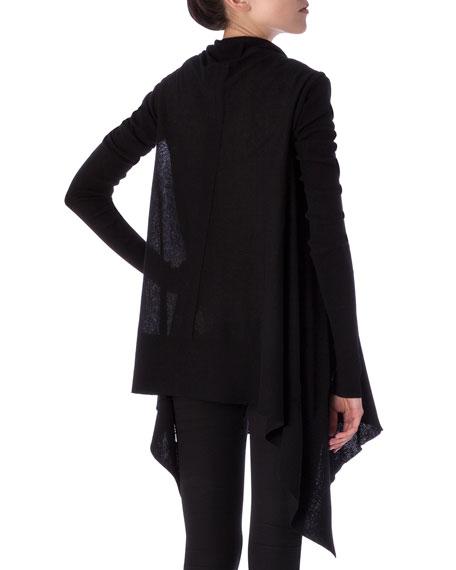 Long-Sleeve Wrapped Long Cardigan