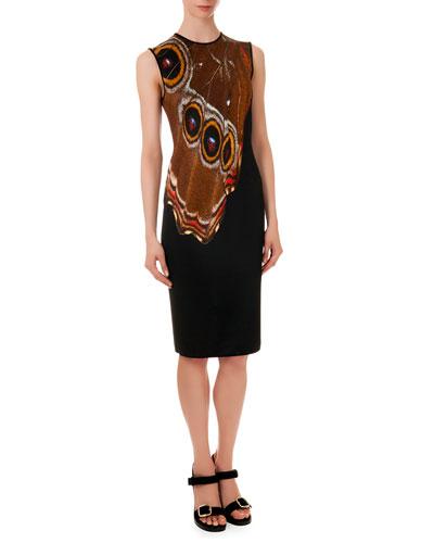 Butterfly-Wing-Pattern Knit Dress