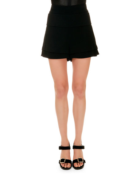 Givenchy Banded-Waist A-Line Shorts
