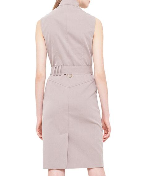 Poplin Snap-Front Trench Dress, Corde