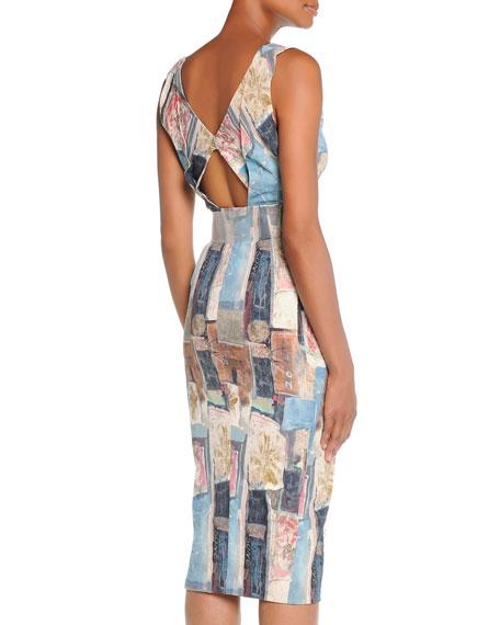 Donna Karan Stencil Patchwork Dress