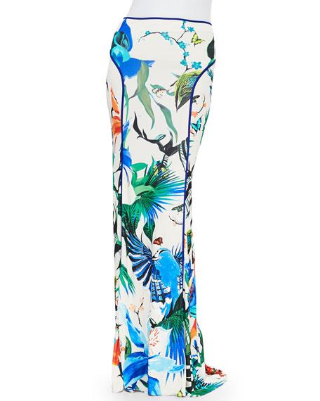 Roberto Cavalli Alize-Print Jersey Maxi Skirt