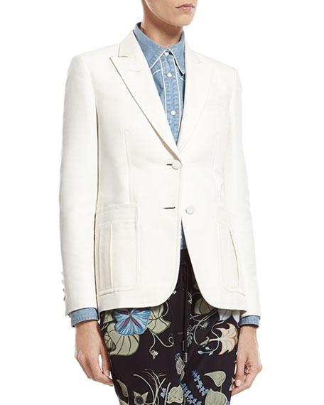 Gucci White Techno Cotton-Silk Jacket