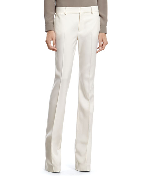 Gucci White Wool 60's Flare Pant