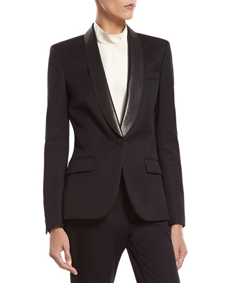 Gucci Black Fine Wool Tuxedo Jacket