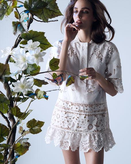 Valentino Battenberg Lace Scalloped Tunic/Dress