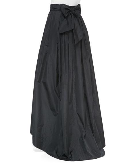 High-Low Full Ball Skirt, Black