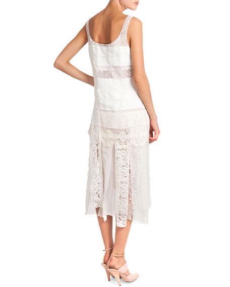 Sleeveless Lace Dress W Car Wash Skirt
