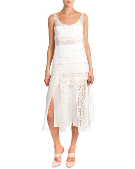 Nina Ricci Sleeveless Lace Dress W/ Car Wash