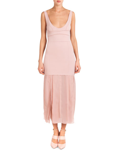 Nina Ricci Sleeveless Dress W/ Car Wash Skirt