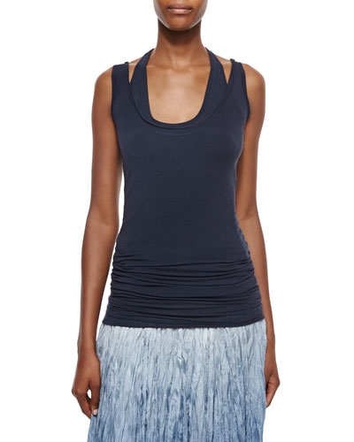 Double Layered Racerback Tank Top