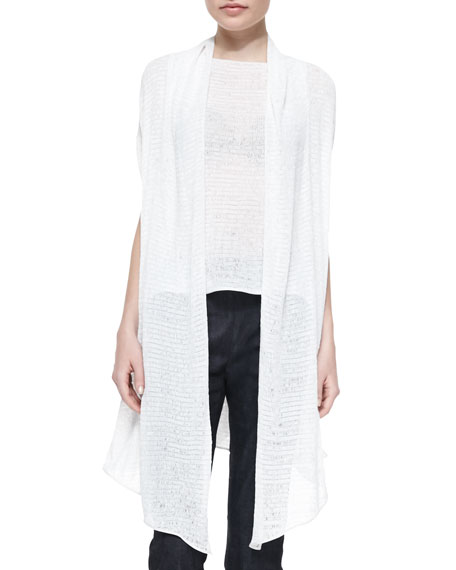 Donna Karan Ribbon Jersey Draped Cozy, Ivory