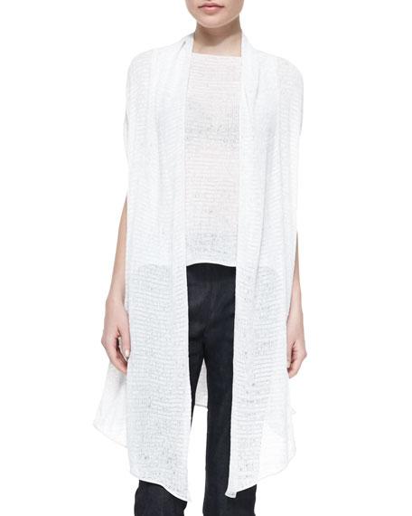 Donna Karan Ribbon Jersey Draped Cozy, Ivory