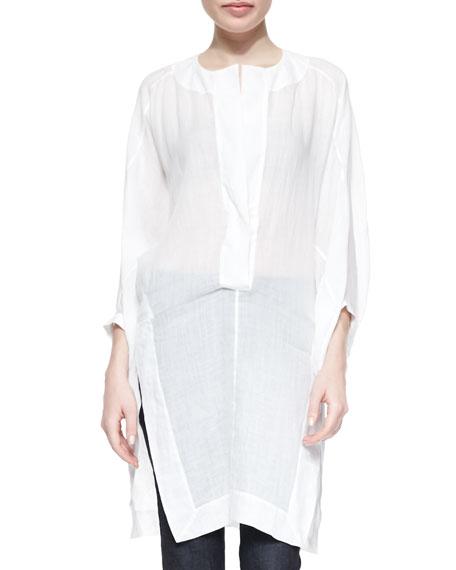 Donna Karan Three-Quarter Full-Sleeve Tunic, White