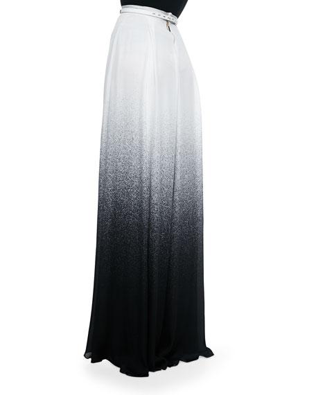Long Slit-Front Degrade Skirt