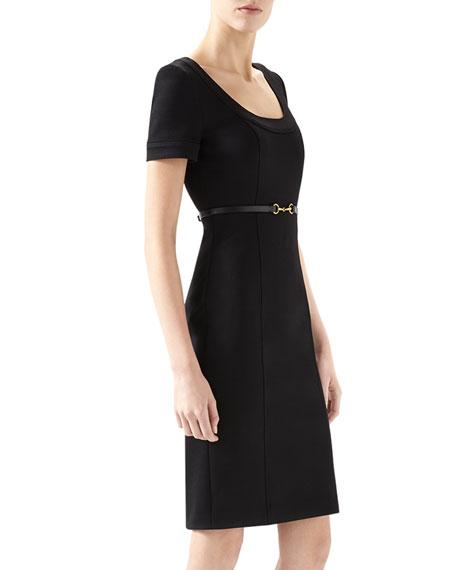 e99b6231f Gucci Viscose Jersey Belted Dress