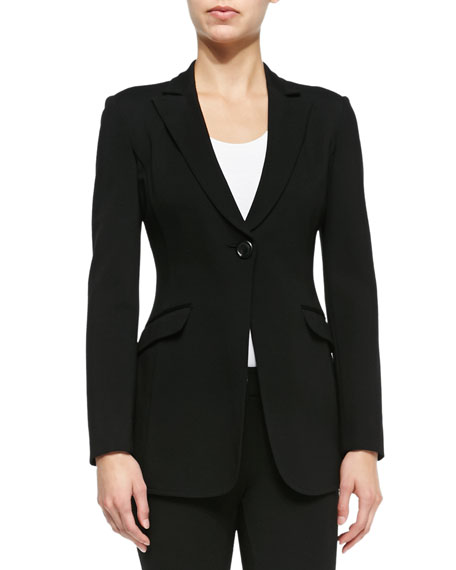 Armani Collezioni Double-Face Jersey One-Button Jacket