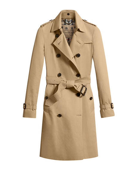 The Kensington - Long Heritage Trench Coat, Honey