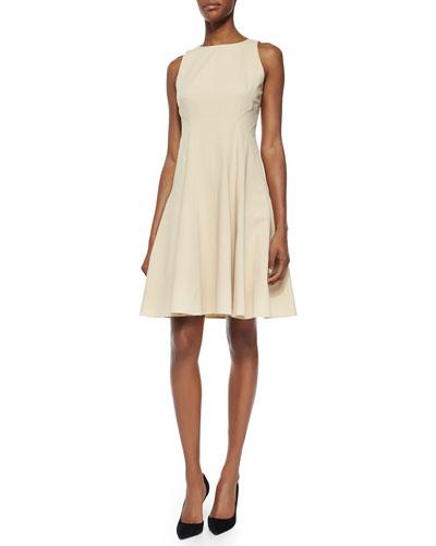 Giordanna Raised-Seam A-Line Dress
