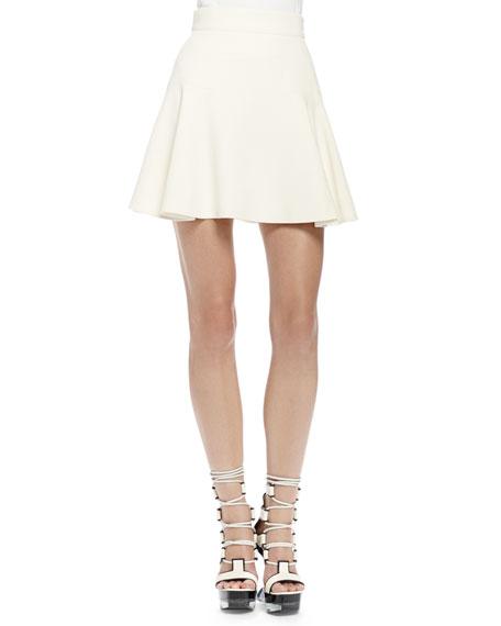 Alexander McQueen Swingy Crepe Soft Skirt