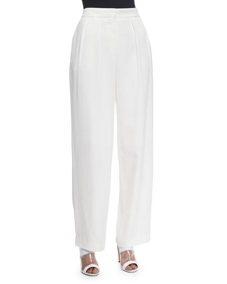 Edun Pleat-Front Wide-Leg Pants