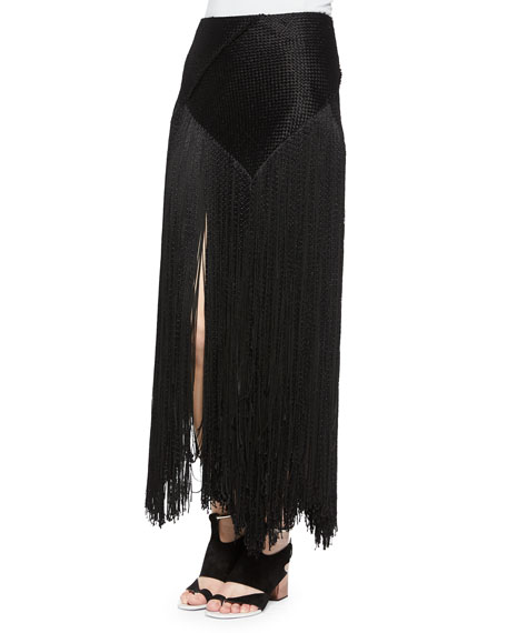 Proenza Schouler Woven Long Fringe Skirt