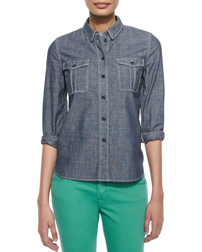 Safari Style Denim Shirt