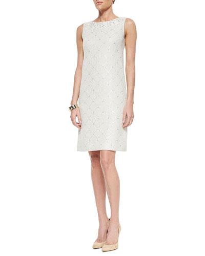 Paillette Sparkle Mini Tweed Dress