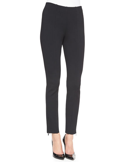 St. John Collection Luxe Sculpture Knit Ankle Pants