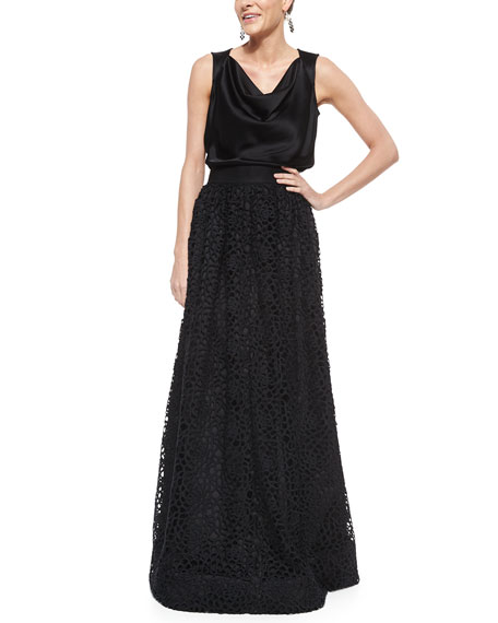 Camellia Crochet Lace Gown Skirt