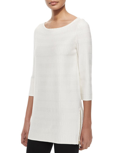 Dot Dash Knit Zip Tunic
