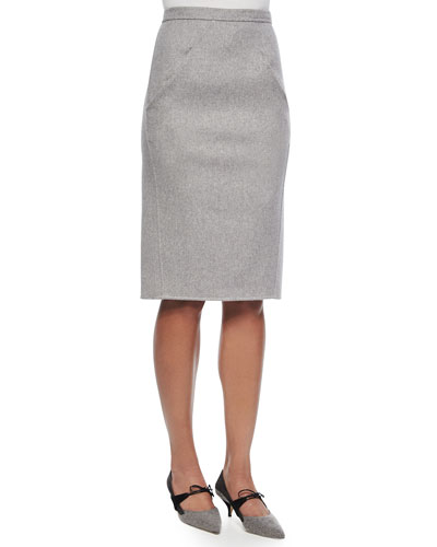 Carolina Herrera Double-Face Cashmere Skirt