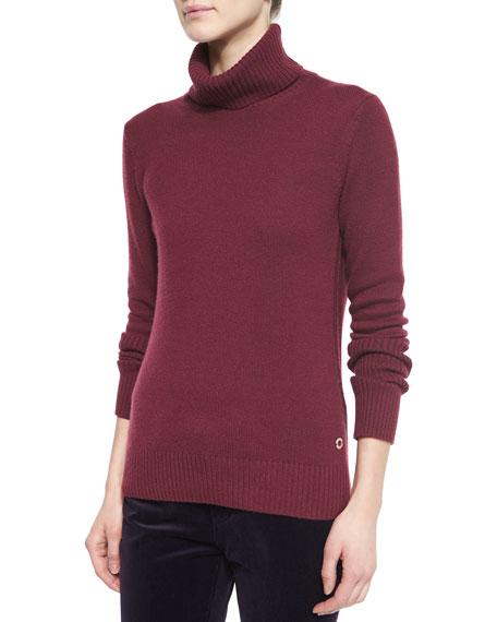 Loro Piana Cashmere Glace Chain-Knit Turtleneck Sweater