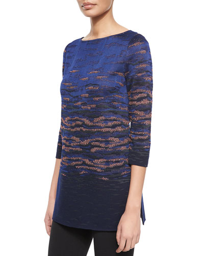 Sunset Jacquard Knit Tunic