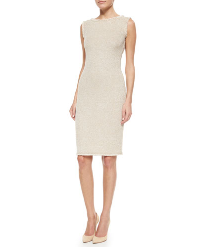 Mini Paper Eyelash Tweed Sheath Dress