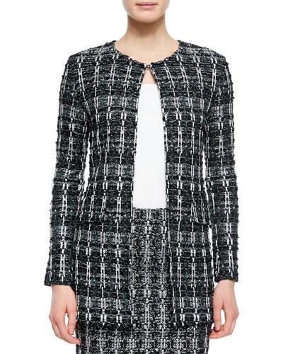 Textured Sparkle Tweed Jacket