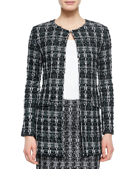 St. John Collection Textured Sparkle Tweed Jacket