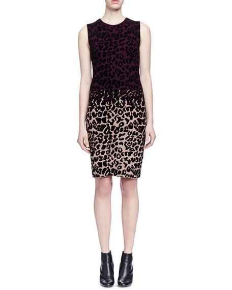 LanvinColorblock Leopard-Print Sheath Dress