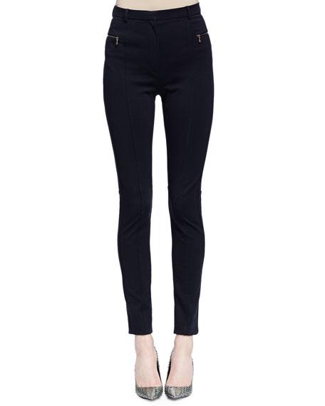 Lanvin Skinny-Fit Raised-Seam Trouser, Black