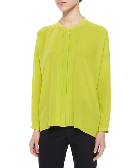 Etro Crystal-Pleated Drop-Shoulder Blouse