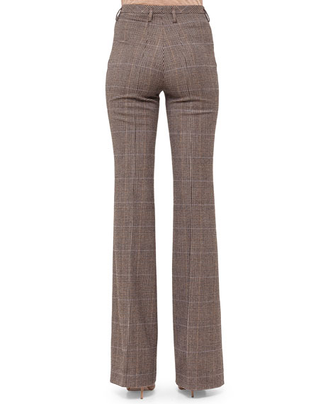 Farrah Prince of Wales Boot-Cut Pants
