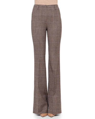 Farrah Prince of Wales Boot-Cut Pants