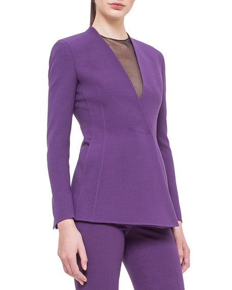 Akris Asymmetric Snap-Front Cardigan Jacket