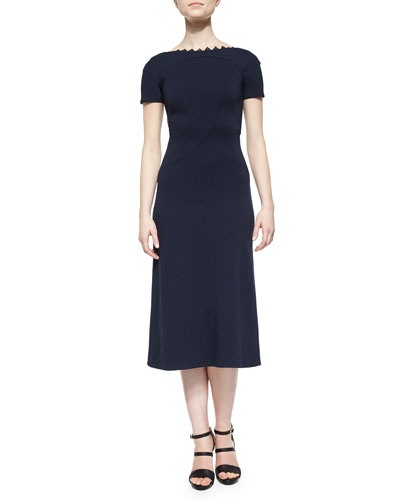 Vanya Lace-Trimmed Midi Dress