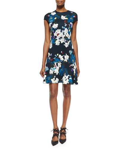 Darlina Floral-Print Flounce Dress