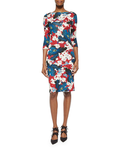 Reese Floral-Print Sheath Dress