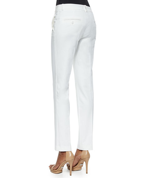 Straight Broadcloth Skinny Pants