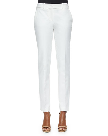 Michael Kors Straight Broadcloth Skinny Pants