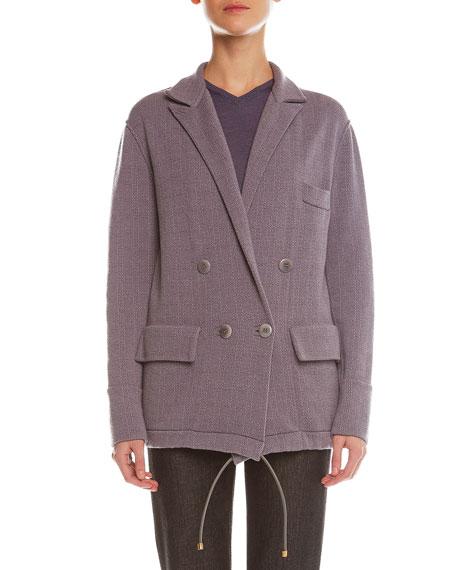 Giorgio Armani Plaid Cashmere-Blend Jacquard Jacket
